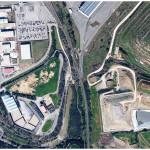 Veduta d'insieme della discarica di rifiuti speciali Guerrucci e della discarica R.S.U. di Civitavecchia (Roma)